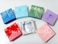 Free shipping !! 9*9*3cm Bowknot Jewelry box jewelry case for bracelet bangle wistband