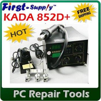DHL free shipping, KADA 852D+ Rework Machine, Welder Machine, kada 852 SMD SMT Hot AiR & Iron, hot sale.