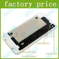 Glass Back Cover Black White Battery Cover with Housing Rear Frame Assembly For iPhone4 /CDMA/ 4S high quality 1320pcs/lot