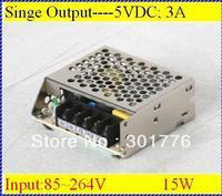 15W AC-DC power suply 100~240V input 5V output 15W power suply power suply 12v multi output switch power