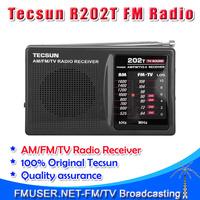 Free shipping! TESCUN portable R202T R-202T FM AM MW TV Radio Receiver  Pocket Campus radio