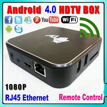 Android 4.0 Smart TV BOX Cortex A9 1GHz WiFi RJ45 Ethernet HDMI Android Mini PC HTPC IPTV set top box