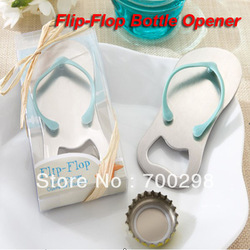 Wholesale 100pcs/lot HIGH QUALITY 'Pop the Top' nice flip flop bottle opener wedding favors,gift packaging, Free Shipping(China (Mainland))