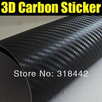 NEW !Hot selling sticker , cheap shipping !1.52*30M/Roll black color change for car .3D Carbon Fiber Vinyl Car Sticker