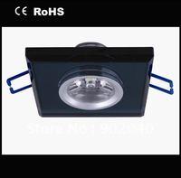 Free shipping high quality 1 Watt  cool white/pure white/warm white, black/light green Crystal LED ceiling light