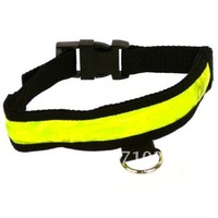 Freeshipping LED Nylon Pet Dog Safety Flashing Light Up Collar Small