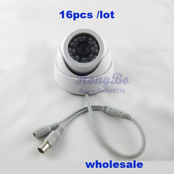 Wholesale 16pcs/lot the lowest price cctv camera with CMOS 420TVL 15M IR night vision security camera(China (Mainland))