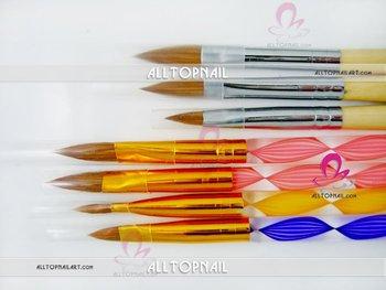 Acrylic brush kolinsky NAIL art brush 4#, 8#,10# and12# Size available - Free shipping  30pcs/lot