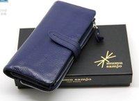 Multi-function women's wallet,fashion cowskin wallet ,Free shipping 1101