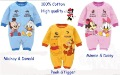Mickey&Minnie Spring toddlers/baby romper/clothing/clothes 100%cotton eco-friendly sweat-absorbent