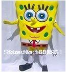 Hot sale! lovely spongebob Cartoon mascot costume for sale anime carnival costume Halloween Dress kids party