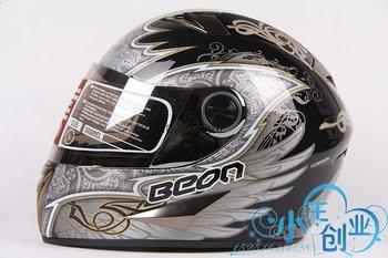 Freeshipping BCM001# BEON B-500 Classic Full Face Helmet Winter Helmet Racing Helmet International Version Motorcycle HelmetsN10