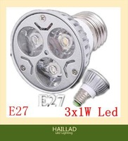 Best Selling  Spotlight Bulb,Wholesale E27 3W 85-265V Pure White 3 LED Flat Fluorescent Lamp