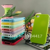 Brand New Free shipping soft silicone case protection case for  iphone4 4s 4G 5pcs/lot