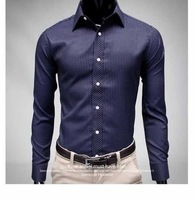 2012 new gentleman striped shirt Men's Slim Fit Stylish Dress stripe Shirts,Free Shipping ST1208