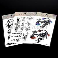 Temporary Tattoos 20pcs/lot Tattoo For Body Art Spiders Tattoo Waterproof Arm Chest Tattoos