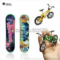 Freeshipping 20set/lot Alloy Finger Skateboards & Bikes,Mini Pocket bike,Finger Toy
