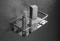 Brass Bathroom Single Tier Corner Basket -