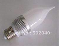 Free shipping pure white/warm white LED candle light 3 Watts,high power LED candle lights/LED bulb, base E27