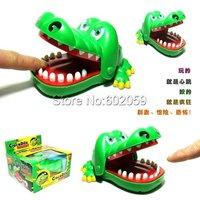Freeshipping 8pcs/Lot Crocodile Mouth Dentist Bite Game Toys