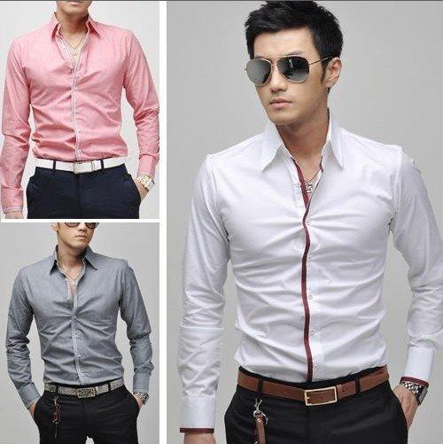 2013 Free Shipping New Men's Casual Slim Fit Stylish Dress Shirts Men