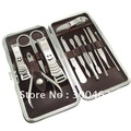 12 in 1 nail care set utility stainless steel manicure set nail clipper manicure tools set kit Free Shipping