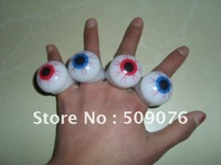 Free shipping 36pcs/lot   led flashing ring flashing finger lights  flashing eyeball ring for parties