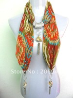 2012 new fashion scarves tassel pendant printing snow spins women's scarf 236