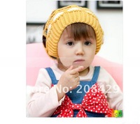 HOT selling 2012 kids cap super cute Children&#39;s knitting hat, 4 color mesh baby hat, 10pcs/lot