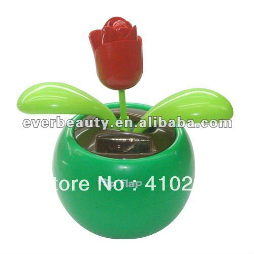 On Sale! Min Order US$15,Free Shipping.Flip flap solar dancing flower(China (Mainland))