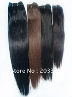 Brazilian Remy human hair extensions machine weft  Mix Color 1 #1B #2 #4 silk straight 4 pcs /lot free shipping