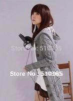New 2014 Winter Fashion Cardigan Sweater Long Sleeve Solid  Knittedwear Overcoat  Women