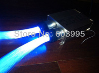 Free shipping 600pcs star side light optic fiber with two coupling led engine
