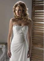Discount Empire Sleeveless wedding dress Free shipping