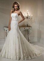 Discount Wedding Dress Lice A-Line Chapel Train free shipping