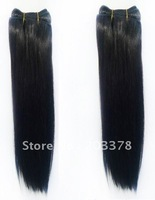 "10""-24"" Virgin brazilian remy human hair jet black silk straight,100g/pcs,#1,free shipping"