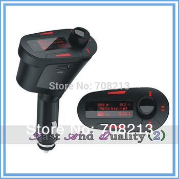 Free Shipping  Car Kit MP3 Player Wireless FM Transmitter Modulator USB SD MMC LCD remote control rty
