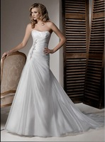 bra top A-Line wedding dress free shipping 2012 new style