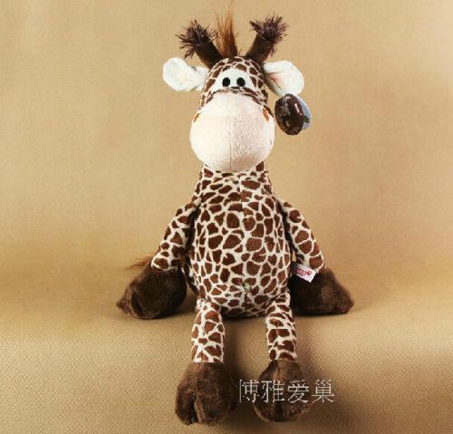 Candice guo! Newest hot sale plush toy doll NICI jungle series giraffe stuffed toy 1pc(China (Mainland))