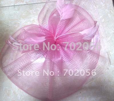 Mini Top Hat Fascinator Feather Birdcage Veil Accessory Fur Veil Bow Feather Barrette 20pcs/lot#1950(China (Mainland))