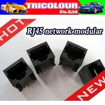 RJ45 Modular Network PCB Jack 56 8P8C 90 degree LAN Connector 100 pcs per Lot FREE SHIPPING #F02005