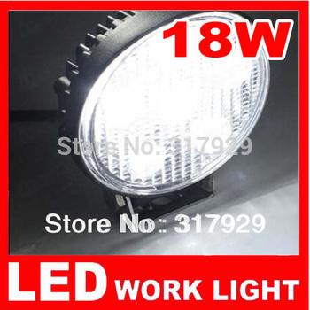 "4.33"" 1pcs New 12V LED Work Light 18W Round Flood Offroad Fog Light  For Car Vehicle Boat Tractor ATV UTV Reverse Jeep Truck 4x4"