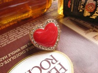 New style enamel heart ring