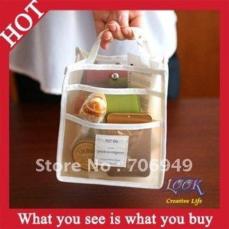 Free Shipping! 50pcs Transparent Multi-function Bag Storage Bag in Bags Travel Bag  -- BIB01 Wholesale