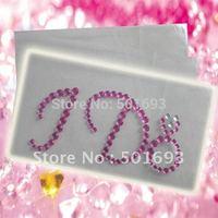 Freeshipping !  crystal diamond rhinestone gemstones high-heel shoe sticker