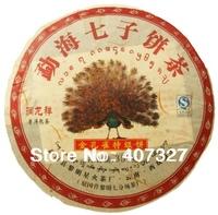 Free shipping Golden Phoenix Tea old pu erh 357g MengHai special grade Ripe Tea 2006