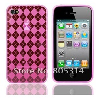 Gel bumper TPU case skin cover for iphone 4s 4g