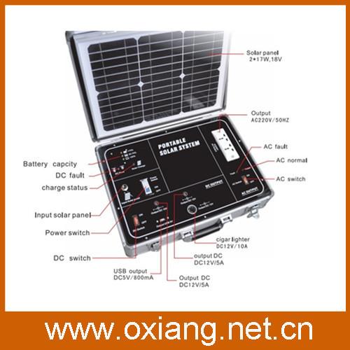 Free shipping+ 500W solar generator 220v/110v portable + 34w solar panel(China (Mainland))