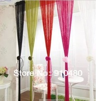 Free shipping Latest 21 colours solid color string curtains  W 90 * H200cm
