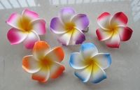 60pcs Baby &amp;amp; Kids hair adorn flowers Frangipani house flower frangipani hair clip aq @WDGghj456